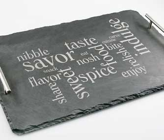 laser engraving slate cheese board